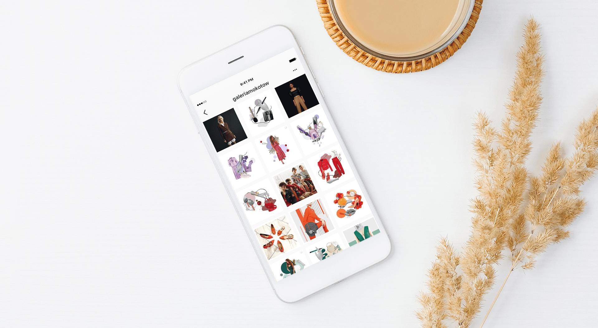 Instagram feed Galeria Mokotów