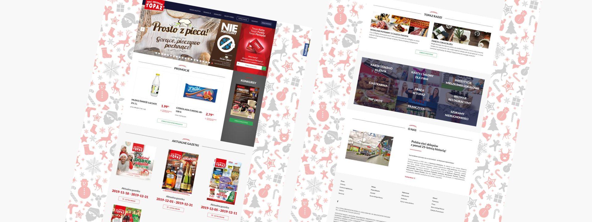 strona sieci sklepów Topaz